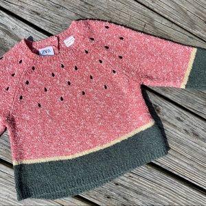 Zara Baby Long Sleeved Watermelon Sweater CUTE!!!